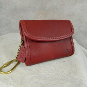 COACH VINTAGE Mini Key Fob Wallet RED NEVER USED